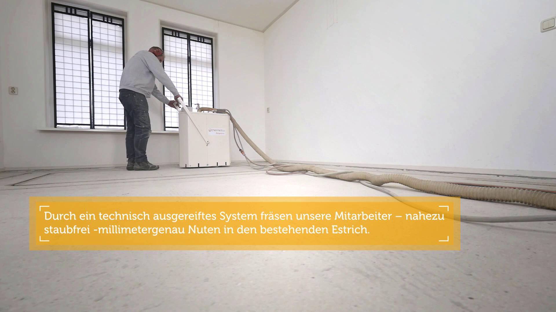 Nachträglich Fußbodenheizung einfräsen | thermisto
